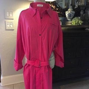 Like NEW! Calvin Klein Hot Pink Shirt/Dress